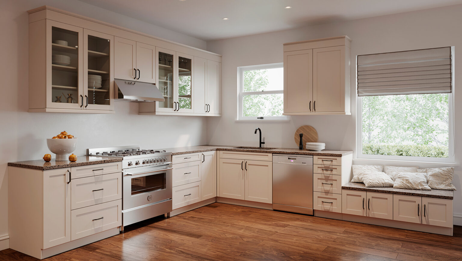 Kitchen Cabinets: Willow Grey
