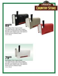Timber Top Mailbox Flyer