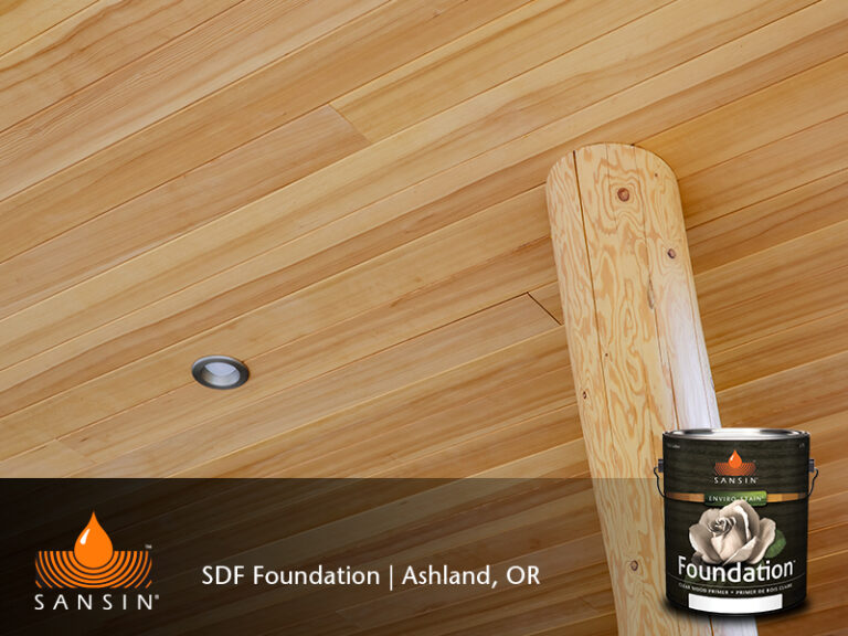 Ceiling finished with Sansin Foundation Enviro Stain