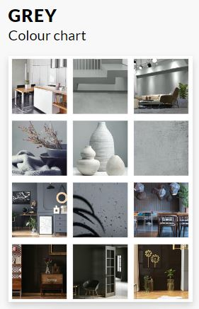 Grey Colour Chart