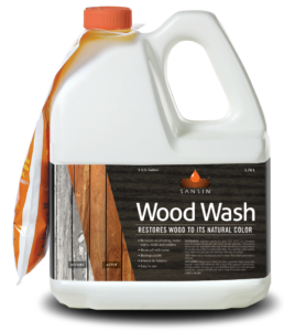 Sansin Wood Wash Restores wood to natural color